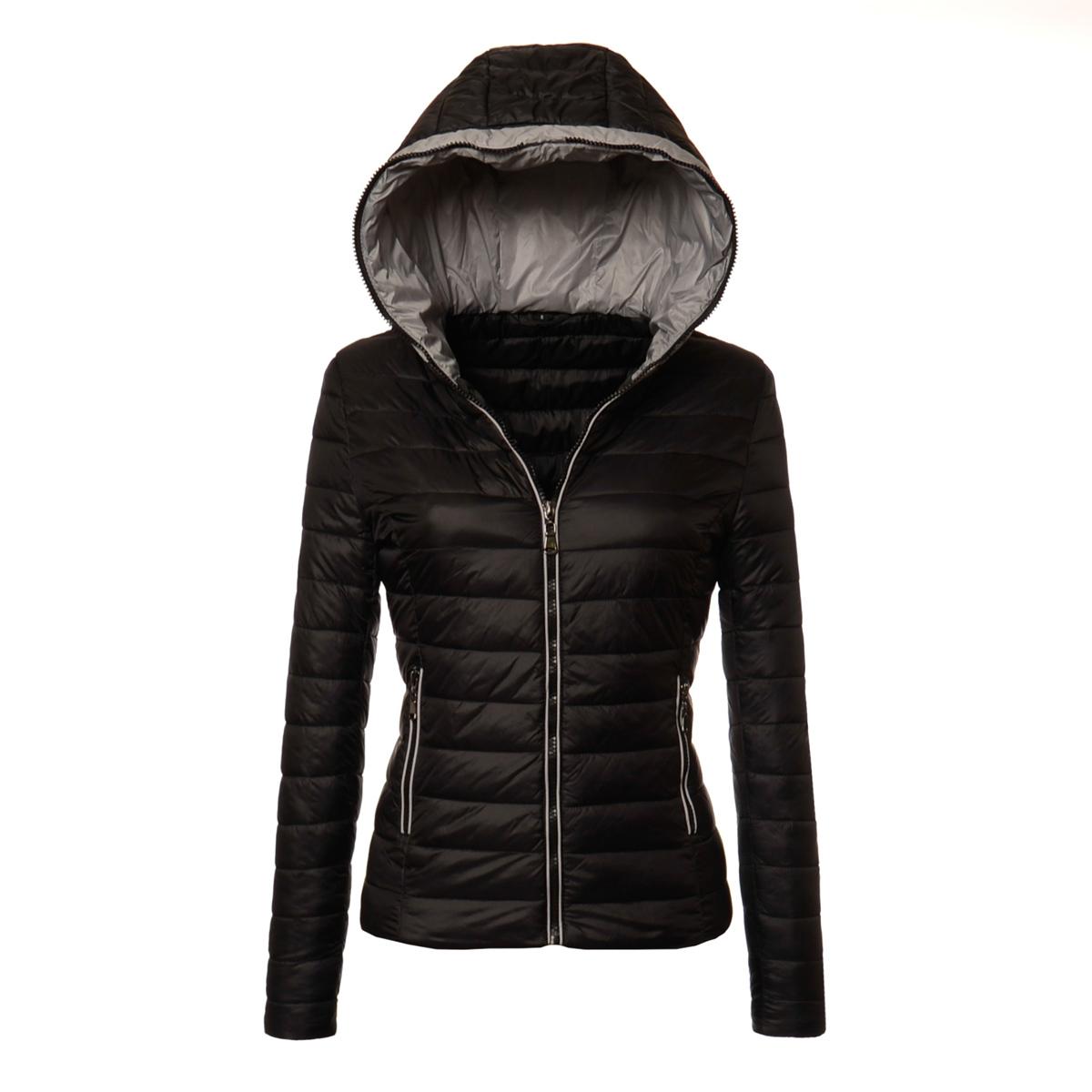 kurtka wiosenna pikowana męska czarna