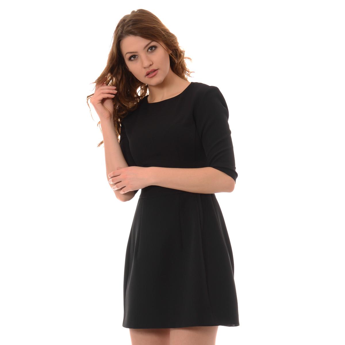 f776f8eb3e Mała Czarna Rozkloszowana Tonia Sukienka · Mała Czarna Rozkloszowana Tonia  Sukienka ...