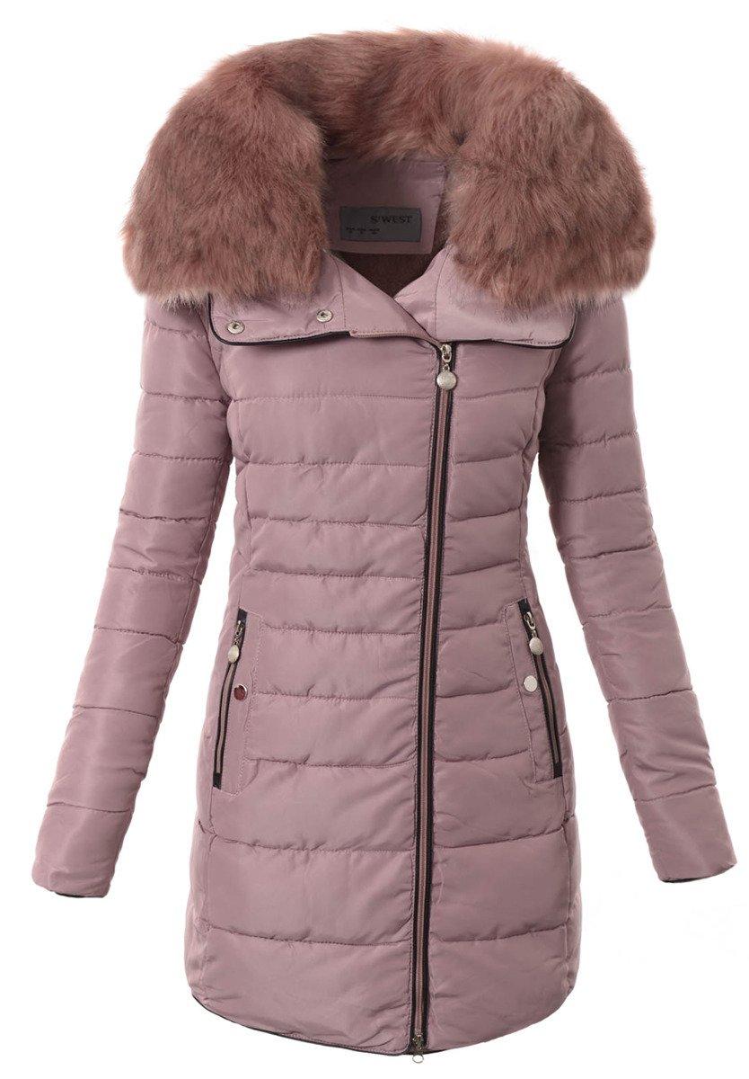 damska zimowa kurtka z brendi