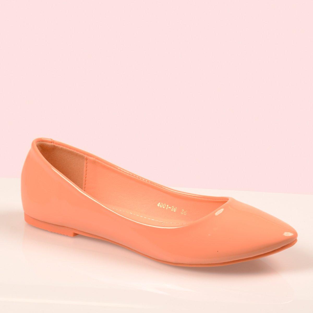 1679fd70492e0 Damskie Buty Baleriny Pastelowe Clarisse Pomarańczowe Pomarańczowy ...