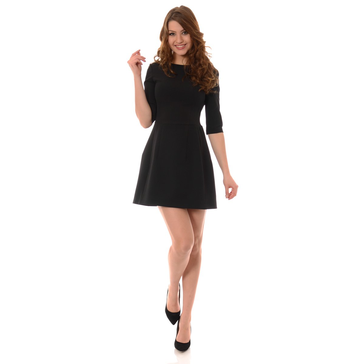 38d16c4e Mała Czarna Rozkloszowana Tonia Sukienka