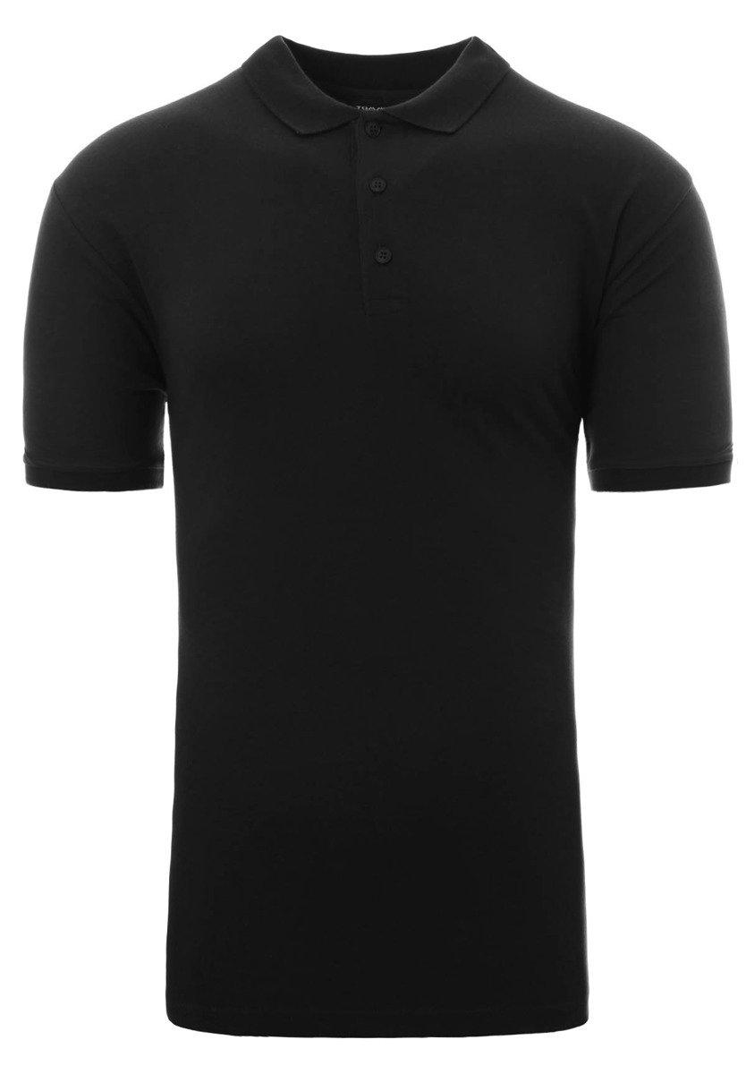 3f7f111c459a Męska Koszulka Polo Gładka Czarna · Męska Koszulka Polo Gładka Czarna ...