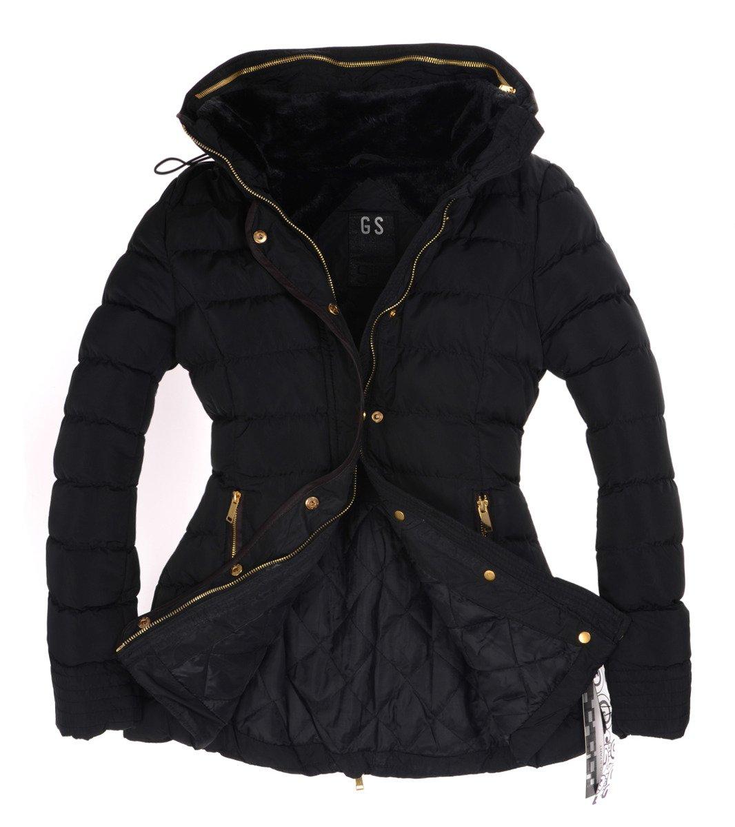 modna damska kurtka czarna