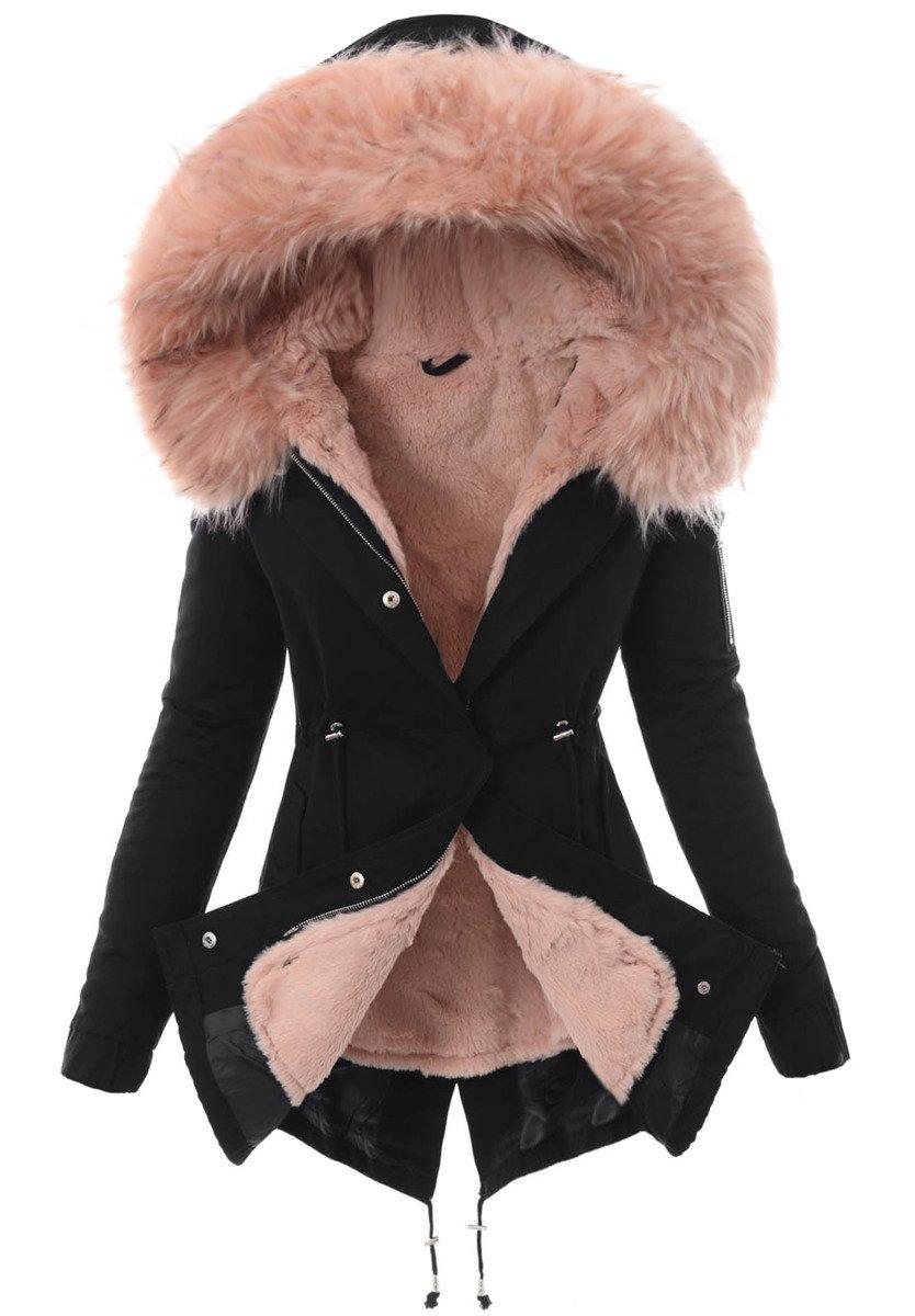 emilia kurtki zimowe sportowe damskie różowe